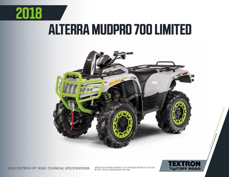 ARCTIC CAT ALTERRA MUDPRO 700 2018