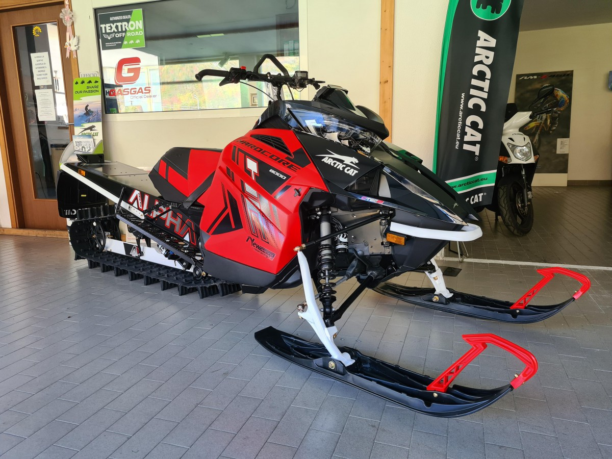 "MOTOSLITTA ARCTIC CAT M 8000 165"" HARDCORE ALPHA ONE RED 2021"