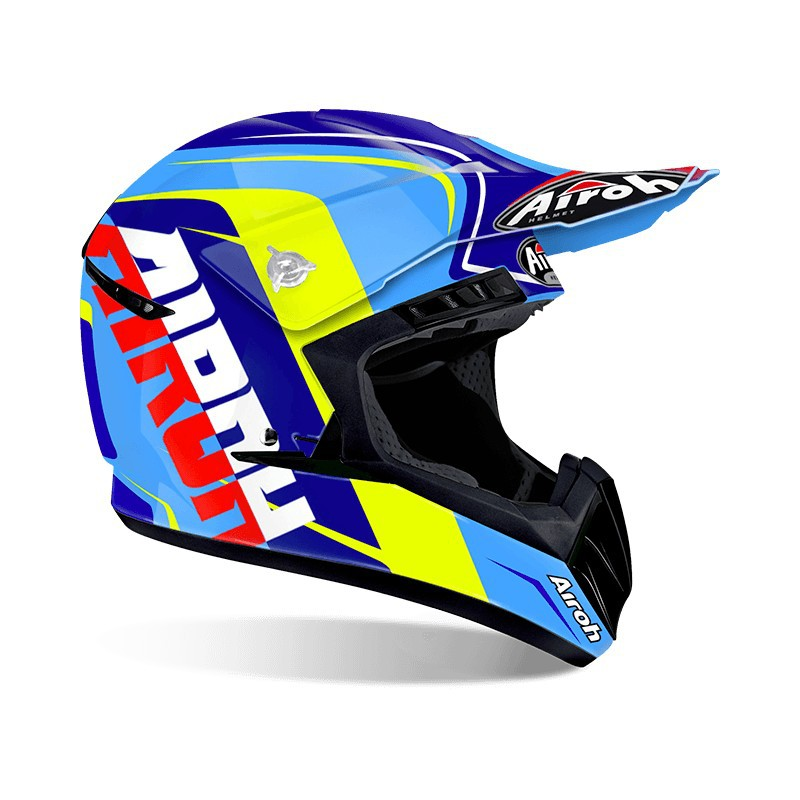CASCO AIROH SWITCH SIGN BLUE GLOSS L