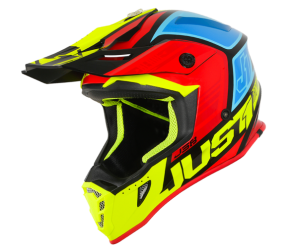 CASCO JUST1 J38 BLADE YELLOW-RED-BLUE-BLACK GLOSS M
