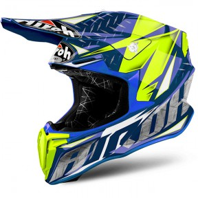 CASCO AIROH TWIST IRON BLUE GLOSS L