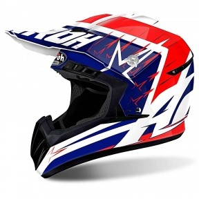 CASCO AIROH SWITCH STARTRUCK RED GLOSS S