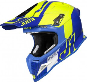 CASCO JUST J12 SYNCRO FLUO YELLOW BLUE GLOSS M
