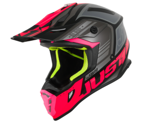 CASCO JUST1 J38 BLADE FLUO FUXIA/BLACK MATT S