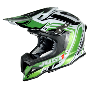 CASCO  JUST1 J12 FLAME GREEN BLACK M